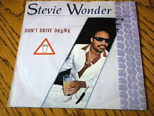 "STEVIE WONDER - DON'T DRIVE DRUNK  7"" VINYL PS"