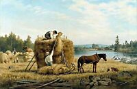 Harvesters by Ferdinand von Wright. Life Art Repro print choose Canvas or Paper