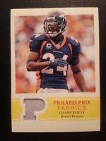 2009 Philadelphia Fabric CHAMP BAILEY #PF-CB Denver Broncos