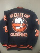 New York Islanders CHAMPIONSHIP Wool Jacket Stanley Cup Champions NHL Large GIII
