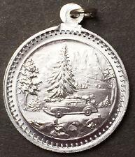 1940s Car on St Christopher Medallion - German - 2cm - Aluminium
