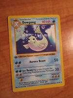 PL 1st edition Pokemon DEWGONG Card BASE Set 25/102 First ed Shadowless PLAYED