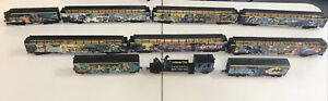 Hawthorne Village The Batman Locomotive Train  Set Of 10 w/COAs