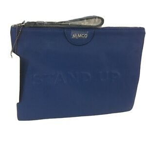 Mimco Ourwatch Standup TABLET Pouch Clutch Wallet Brand New Navy