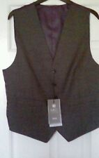 "MENS GENTS  M&S SMART GREY WAISTCOAT SIZE SMALL CHEST 36-38"" chest BNWT wedding"