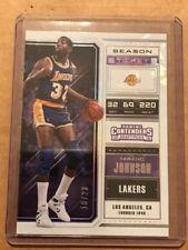 MAGIC JOHNSON Lakers 2018-19 Panini Contenders Draft CRACKED ICE Ticket 18/23