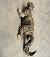 CLIMBING BROWN SQUIRREL WITH HOOK TAIL Cast Iron HANGING SCULPTURE Home/ Garden