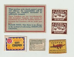 Australian- 1950's Household Savers x 5 coupons  all very clean