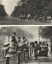 ROTTEN ROW. Hyde Park where the Deer were once hunted. Horse riders. Pram 1926
