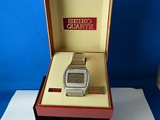 VINTAGE SEIKO JAMES BOND MOONRAKER M354 MEMORY-BANK CALENDAR MEN'S WATCH W/BOX