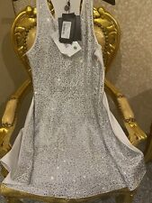 Original Philipp plein vestido Jersey dress Mimi Crystal blanco nuevo np1500 euro
