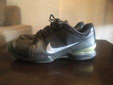 Nike Air Zoom Vapor Tour Black Grey Tennis Federer 2008 Size 9.5 VGUC *READ*