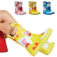 Hunter Originals Kids First Peppa Pig Grab Handle Toddlers Waterproof Rain Boots