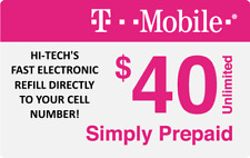$40 T-MOBILE PREPAID REFILL DIRECT to PHONE 🔥 GET IT TODAY! 🔥 TRUSTED SELLER