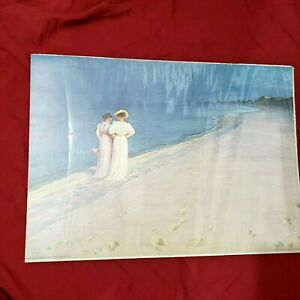 A Summer Evening P.S. Kroyer Pictura GraphicaPicture Printed in Sweden 1979
