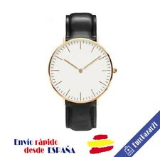 Reloj de Pulsera Mujer Hombre con Logo Marca Lujo Correa Nylon Rayas Gift Regalo