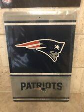 NEW ENGLAND PATRIOTS Sign Retro Tin NFL Team Logo 8 x 12-inches, NFL Licensed