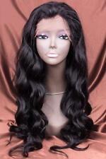 """24"""" #1B 6A Brazilian Virgin Body Wave 150% Density Glueless Full Lace Wig"""