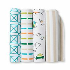 Flannel Baby Blankets Animal 4 Pack Cloud Island