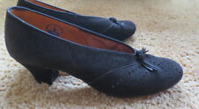 True vintage 1950's lady suede black shoes (size 37-38) rockabilly