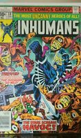The Inhumans 10 1977 Marvel Black Bolt Warkon Kree Mon-Tog LOCKJAW Medusa