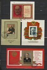 4 blocs Russe FDC Lénine .....