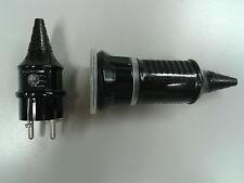 MENNEKES Amaplast Schuko Kupplung Stecker 10755 10754 IP44 16A 2,5 mm² schwarz