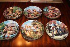 Vintage Lot of 6 Little Companions Collector Plates Mj Hummel Danbury Mint-Nm