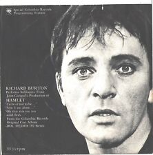RICHARD BURTON--PICTURE SLEEVE + 45--(INTERVIEW FROM HAMLET)---PS---PIC---SLV