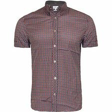 Men's Next Branded Check Printed Shirt Short Sleeve Shirt Casual Designer Shirt
