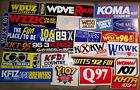 25 VINTAGE RADIO STATION STICKERS TTTTTT