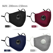 2x Reusable Dustproof PM2.5 Mask Washable Cotton Face Mask Protective+ 4 Filters
