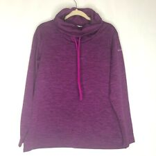 99d4fd54fcd3 Columbia Womens Purple and Black Heathered Warm Cowl Neck Sweatshirt Size L