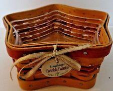 Longaberger 2001 Twinkle, Twinkle Tree Trimming Basket Protector Tie On