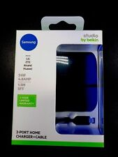 For Samsung Phones-Belkin Micro USB Fast Home Charger 4.8AMP 2 Port/5Ft/BLACK