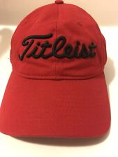 Titleist Hat Red Embroidered Adjustable Unisex