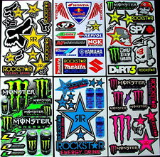6 stickers decal Rockstar etc Energy Motocross drink MX scooter atv BMX Bike wSW