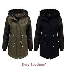 Brave Soul Nylon No Pattern Casual Coats & Jackets for Women