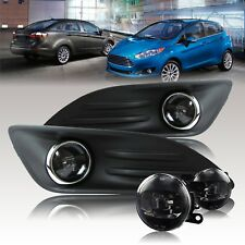 For 2014-2017 Ford Fiesta CREE LED Fog Light Kit w/Wiring Kit - Clear