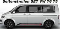 VW T6 T5 Seitenstreifen Set BLANKO NEU 2 farbig Wunschfarbe