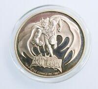 RARE 1987 Vintage Batman coin .999 silver bullion 1 oz-Investment coin