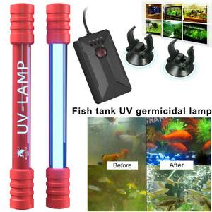 Aquarium Submersible UV Light Sterilizer Pond Fish Tank Germicidal Clean Lamp US