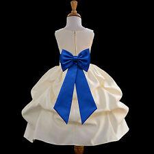 FLOWER GIRL DRESS PICK-UP WEDDING BRIDESMAID COMMUNION EASTER ~FREE SHIPPING USA