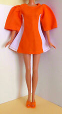 °° Petra Plasty Vintage Kleid - Stockholm Style - orange - weiß - Schuhe °°