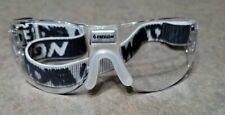 New listing Ektelon Mirage Clear Glasses One Piece Wraparound Design White & Blue Strap
