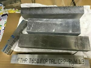 Aluminum Plate  40 Pounds Longer  Drops scrap   Fortal T651 7075 Quality Plate