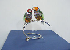 Swarovski Gouldian Finches, Peridot, Birds Colored Crystal Authentic MIB 1141675