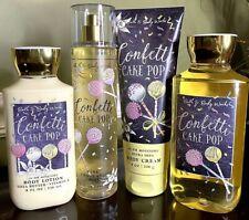 "Bath & Body Works ""Confetti Cake Pop"" Lot of 4 Items: Lotions, Shower Gel, Mist"
