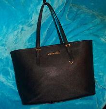 MICHAEL KORS Black Saffiano Leather Large Travel Tote Shoulder Bag-CARRY LAP TOP