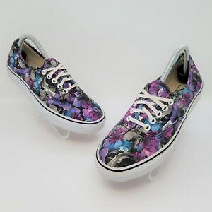 Vans Floral Black Unisex Low Lace Up Skate Shoes Size US Mens 8 Womens 9.5 T375